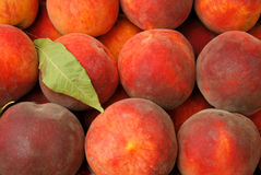 Peaches background Stock Photos