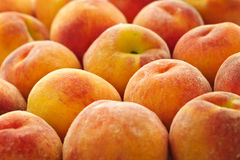 Peaches background Stock Photo