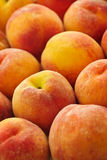 Peaches background. Ripe fresh peaches as background close up Stock Photo