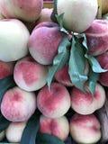 Peaches Background Stockfotos