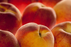 Peaches background, full frame, shallow DOF Royalty Free Stock Photography