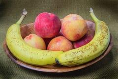 Peaches and Bananas Stock Image