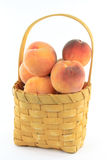 Peaches in basket. Stock Image