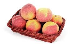 Peaches in basket Royalty Free Stock Image