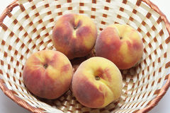 Peaches in Basket Royalty Free Stock Images