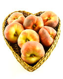 Peaches in basket Royalty Free Stock Photos