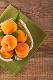 Peaches in the basket. Stock Photography