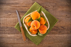 Peaches in the basket. Royalty Free Stock Photo