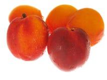 peaches białe tło Zdjęcie Royalty Free