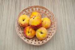 Peaches in the bowl Royalty Free Stock Images