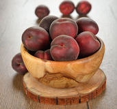 Peaches in a bowl Royalty Free Stock Image