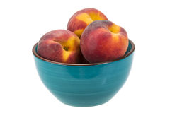 Peaches in the bowl Royalty Free Stock Photos