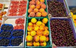 Peaches, cherries blackberries Royalty Free Stock Photos