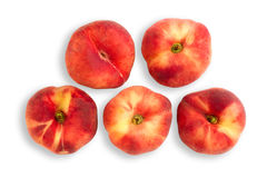 Peaches with clipping path Stock Image