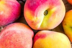 Peaches close up macro Stock Image