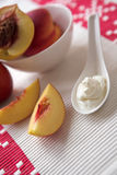Peaches & cream Royalty Free Stock Photography