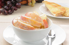Peaches and cream Royalty Free Stock Image