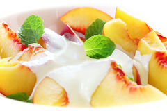Peaches and Cream royalty free stock photography