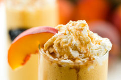 Peaches and cream cold drink Royalty Free Stock Images