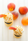 Peaches and cream cold drink Royalty Free Stock Photo