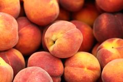 Peaches at the Farmer's Market Royalty Free Stock Image