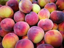 Peaches at farmers market Stock Image
