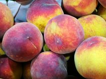 Peaches at farmers market Royalty Free Stock Photo
