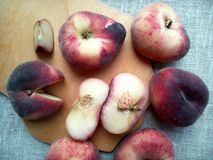 Peaches figs Royalty Free Stock Images
