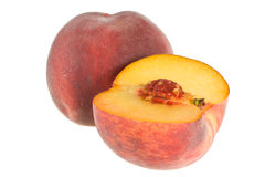 Peaches Full And Half Royalty Free Stock Images
