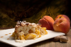 Peaches genoise Stock Photography