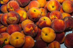 Peaches On Greengrocer Royalty Free Stock Photo
