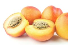 Peaches group Royalty Free Stock Photography