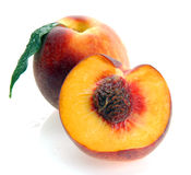 Peaches and a half Royalty Free Stock Photos