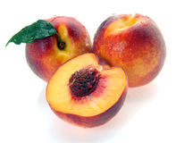 Peaches and a half Royalty Free Stock Images