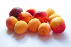 Peaches isolate on white Stock Image
