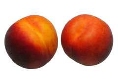 Peaches, isolated Royalty Free Stock Image