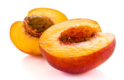 Peaches isolated Royalty Free Stock Image