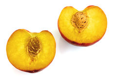 Peaches isolated Stock Photography