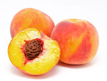 Peaches isolated on a white Royalty Free Stock Image