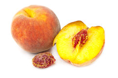 Peaches isolated Royalty Free Stock Photo