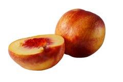 Peaches isolated on white Royalty Free Stock Photo