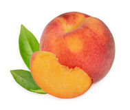 Peaches isolated Royalty Free Stock Photos