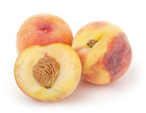 Peaches isolated on white background Royalty Free Stock Photography
