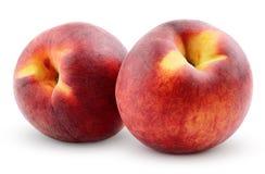 Peaches isolated on white Stock Photos