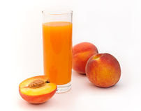 Peaches and juice. Stock Photo