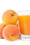 Peaches juice. Stock Images