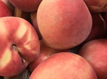 Peaches. At the local market Stock Image