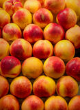 Peaches Market Background. Peaches Fruit Food Color Pattern Texture Stock Photos - Peaches Market Background Stock Images