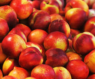 Peaches on market Stock Image