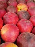 Peaches market organic Royalty Free Stock Photo